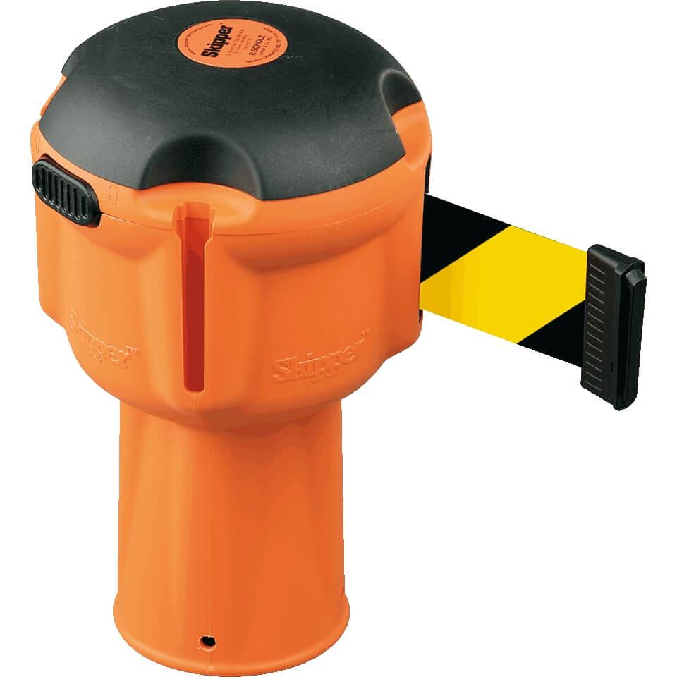 Gut bekannt Leitkegelaufsatz SKIPPER mit Absperrband, schwarz/gelb schraffiert CB22