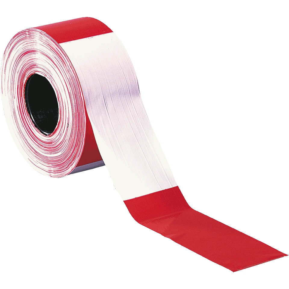 Absperrband Baustellensicherung Warnband rot-weiß Folien-Absperrband 500m