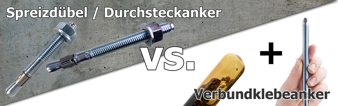 Banner Ratgeber Durchsteckanker vs. Verbundklebeanker